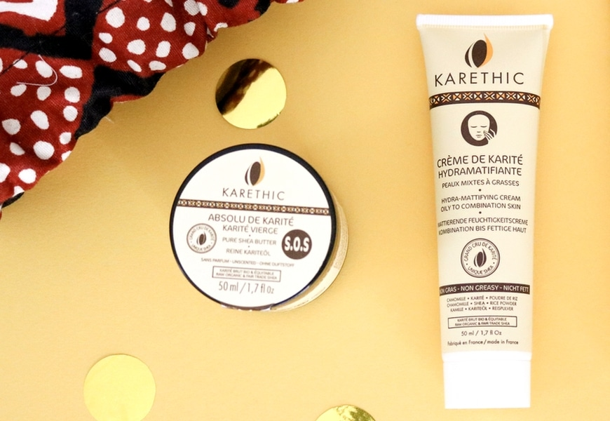 crème karité hydramatifiante karethic