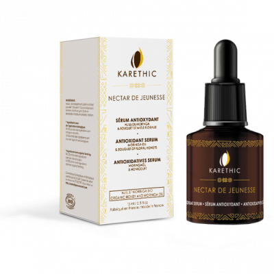 antioxidant serum with organic shea flower honey